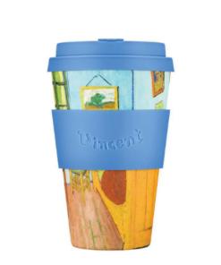 Ecoffee Cup daugkartinis medžio plauošto puodelis Vincent Van Gogh